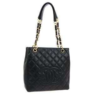 CHANEL Petit Shopping Tote PST Quilted Chain Shoul